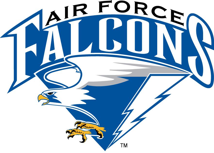Air Force Falcons Logo Primary Logo (1995-2003) - Falcon with lightning bolt underscript SportsLogos.Net