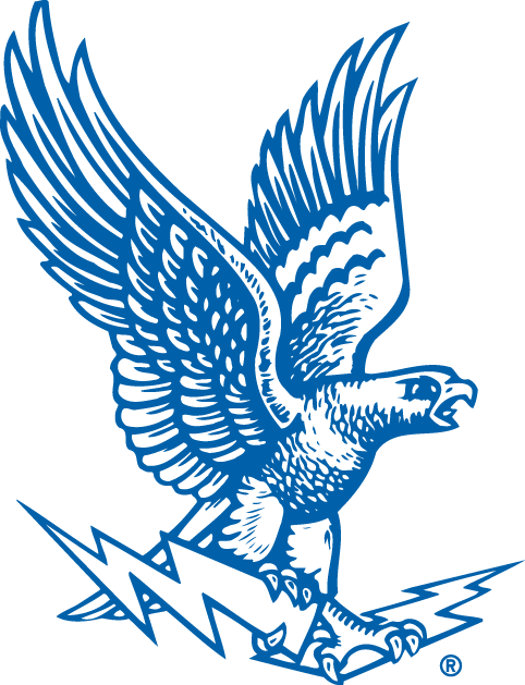Air Force Falcons Logo Primary Logo (1963-1994) - Flying Falcon holding lightning bolts SportsLogos.Net