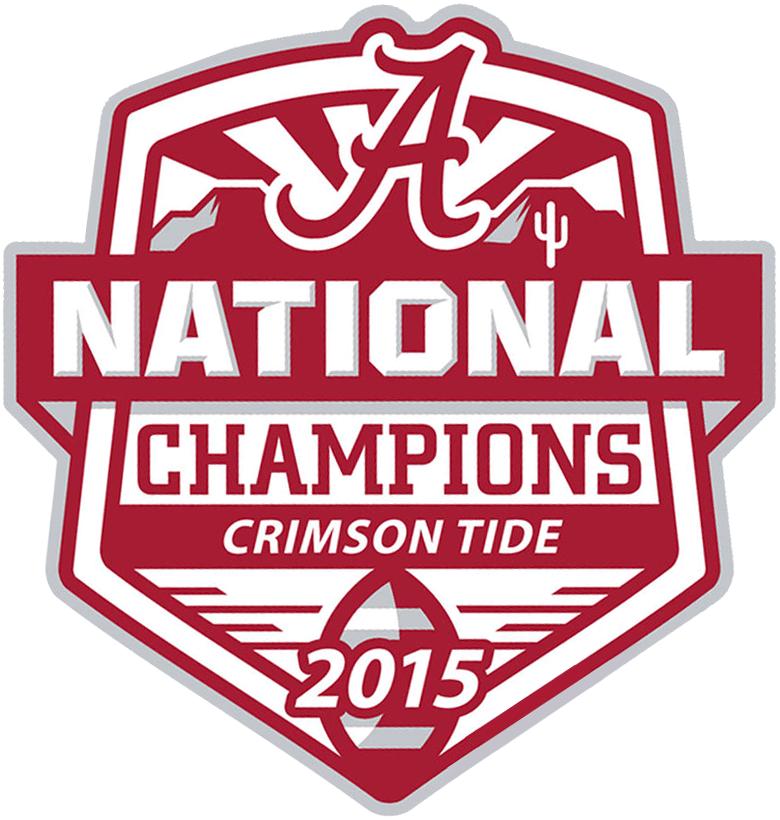 Alabama Crimson Tide Logo Champion Logo (2015) - Alabama Crimson Tide 2015 National Champions football logo SportsLogos.Net