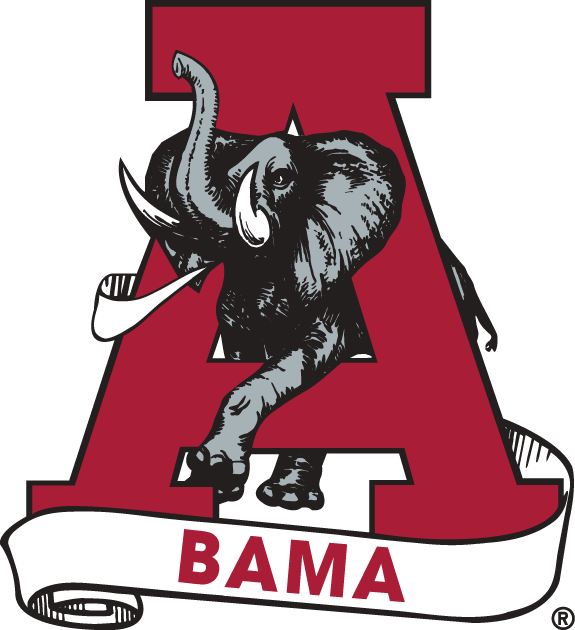 Alabama Crimson Tide Logo Secondary Logo (1974-2000) -  SportsLogos.Net
