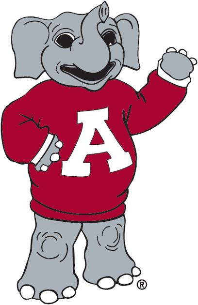 Alabama Crimson Tide Logo Mascot Logo (2000) - classic Big Al mascot logo SportsLogos.Net