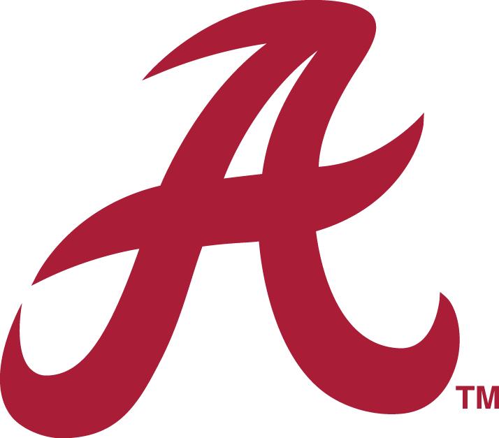 Alabama Crimson Tide Logo Secondary Logo (1976-2000) - Crimson A SportsLogos.Net