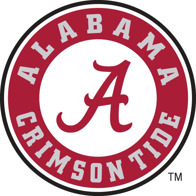 Alabama Crimson Tide Logo Primary Logo (2004-Pres) - A in circle with script.   SportsLogos.Net