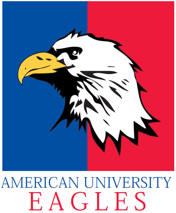 American Eagles Logo Primary Logo (1985-2005) - Eagle Head on a Blue and Red Background SportsLogos.Net