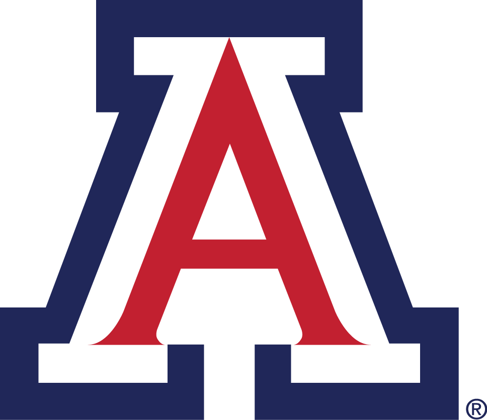 Arizona Wildcats Logo Primary Logo (1990-Pres) - A red white and blue 'A' SportsLogos.Net