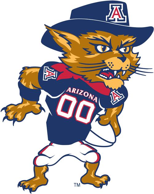Arizona Wildcats Logo Mascot Logo (2003-2012) - Wilbur football logo SportsLogos.Net