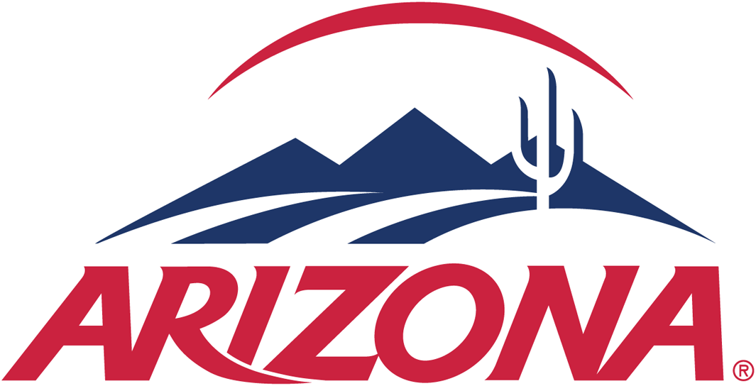 Arizona Wildcats Logo Alternate Logo (2003-Pres) - Desert scape over script SportsLogos.Net