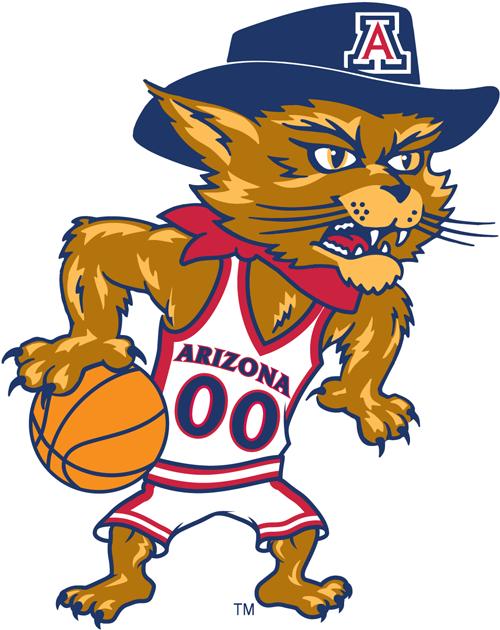Arizona Wildcats Logo Mascot Logo (2003-2012) - Wilbur basketball logo SportsLogos.Net