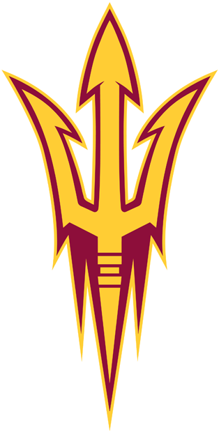 Arizona State Sun Devils Logo Alternate Logo (2011-Pres) - Gold pitchfork with maroon inner outline and gold outer outline. SportsLogos.Net