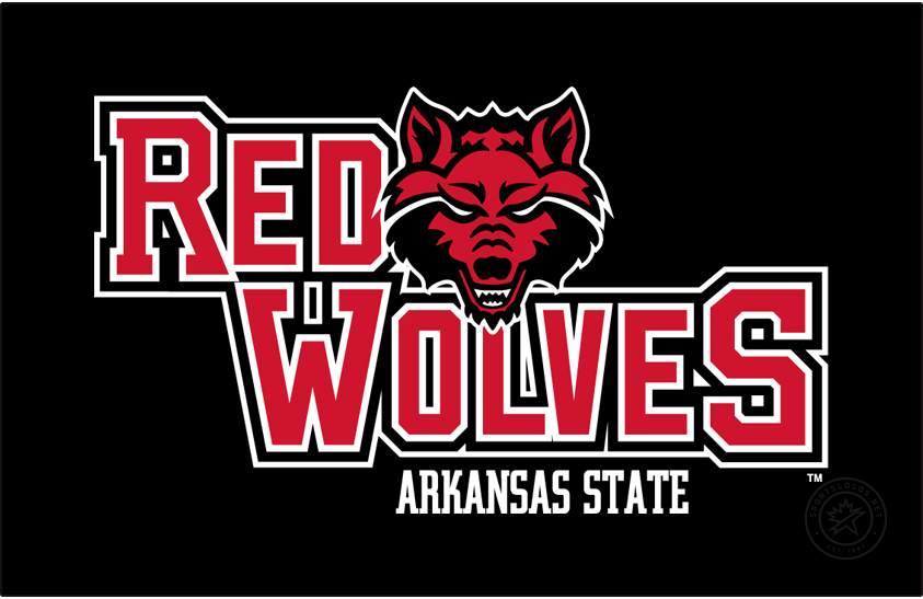 Arkansas State Red Wolves Logo Primary Dark Logo (2008-2015) - On January 31, 2008, Arkansas State University\'s Mascot Selection Steering Committee decided to use the \