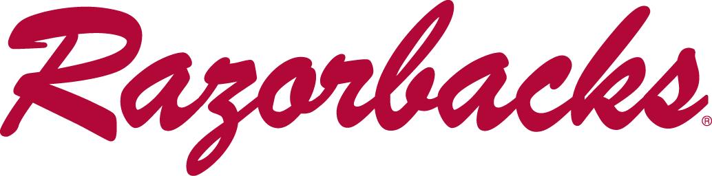 Arkansas Razorbacks Logo Wordmark Logo (1964-2000) -  SportsLogos.Net