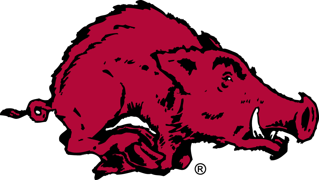 Arkansas Razorbacks Logo Primary Logo (1955-1963) -  SportsLogos.Net