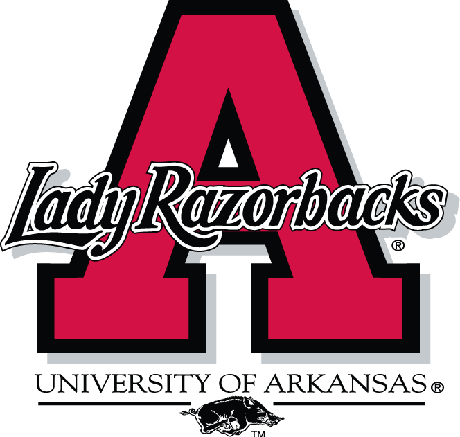 Arkansas Razorbacks Logo Alternate Logo (1998-2000) - Lady Razorbacks written across a red A SportsLogos.Net