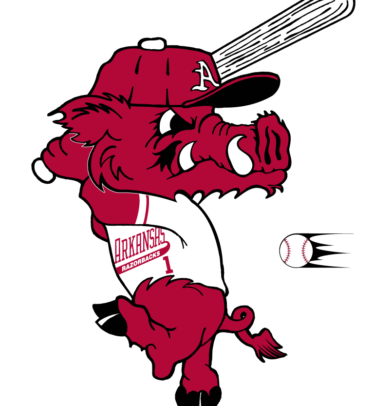 Arkansas Razorbacks Logo Mascot Logo (2001-2013) - baseball mascot logo SportsLogos.Net