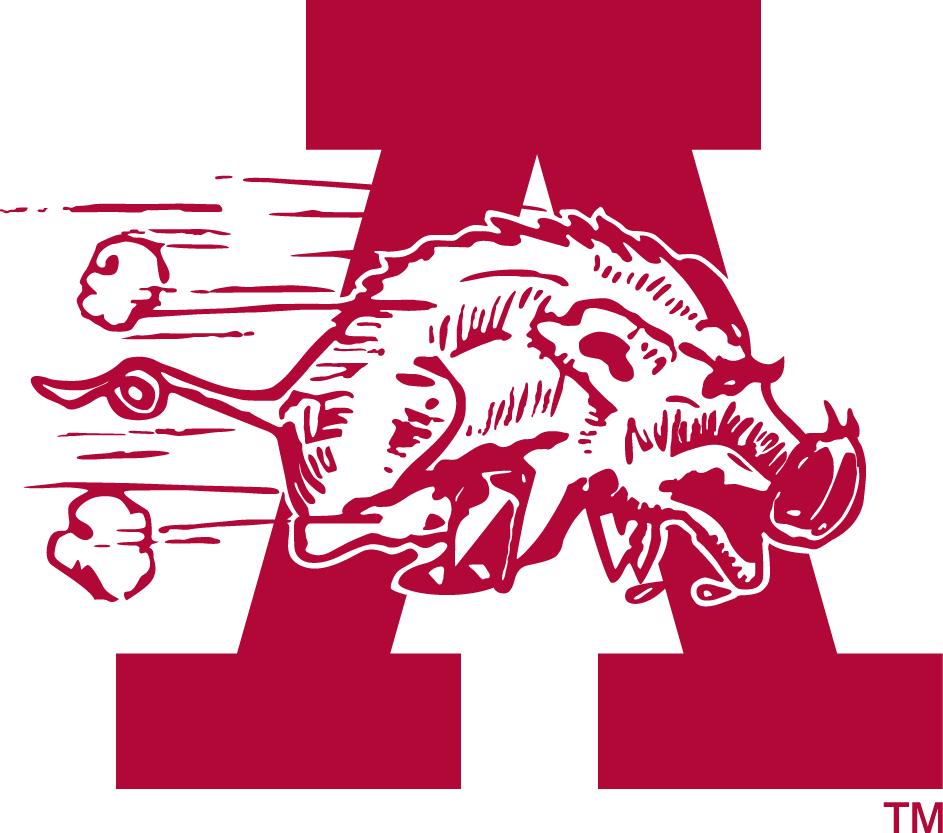 Arkansas Razorbacks Logo Secondary Logo (1938-1946) -  SportsLogos.Net