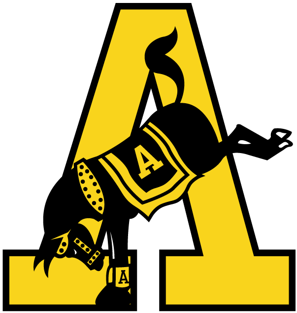 Army Black Knights Logo Primary Logo (1974-1999) - Mule kicking by a golden A SportsLogos.Net