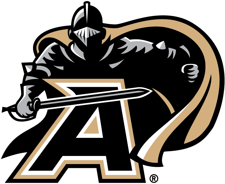 Army Black Knights Logo Primary Logo (2006-2014) - Black Knight over an A with sword drawn SportsLogos.Net
