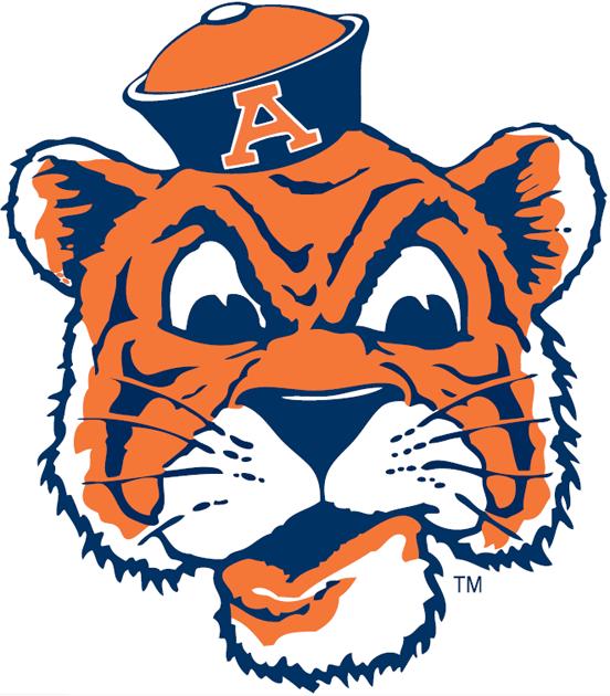 Auburn Tigers Logo Primary Logo (1957-1970) -  SportsLogos.Net