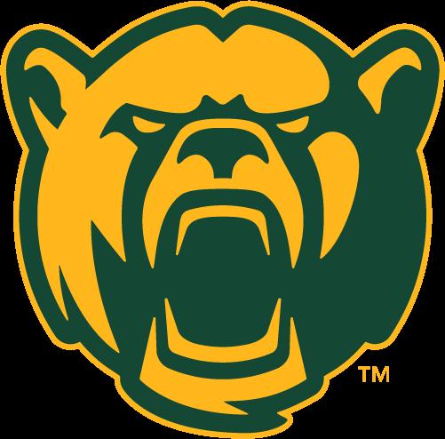 Baylor Bears Logo Alternate Logo (2019-Pres) - Bear face growling in green and gold SportsLogos.Net