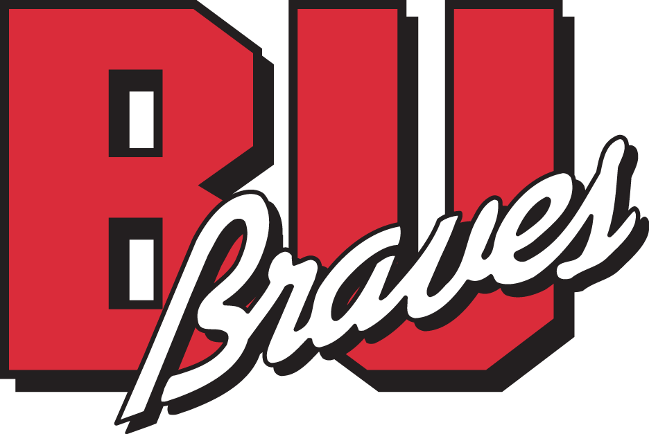 Bradley Braves Logo Primary Logo (1989-2011) - Red BU with Braves in white SportsLogos.Net