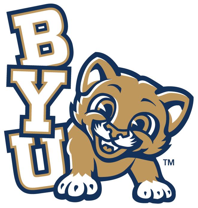 Brigham Young Cougars Logo Misc Logo (1999-Pres) - Kitten next to BYU SportsLogos.Net