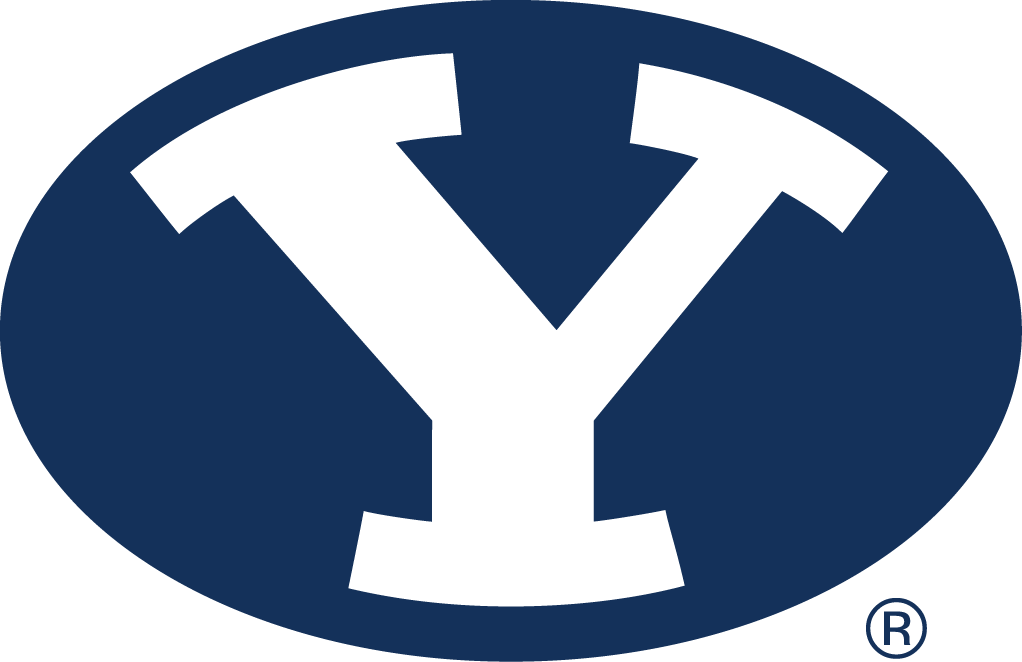 Brigham Young Cougars Logo Primary Logo (2005-Pres) - White Y in a blue oval SportsLogos.Net