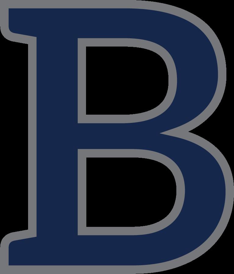 Butler Bulldogs Logo Secondary Logo (2015-2016) - B logo in blue and dark gray. SportsLogos.Net