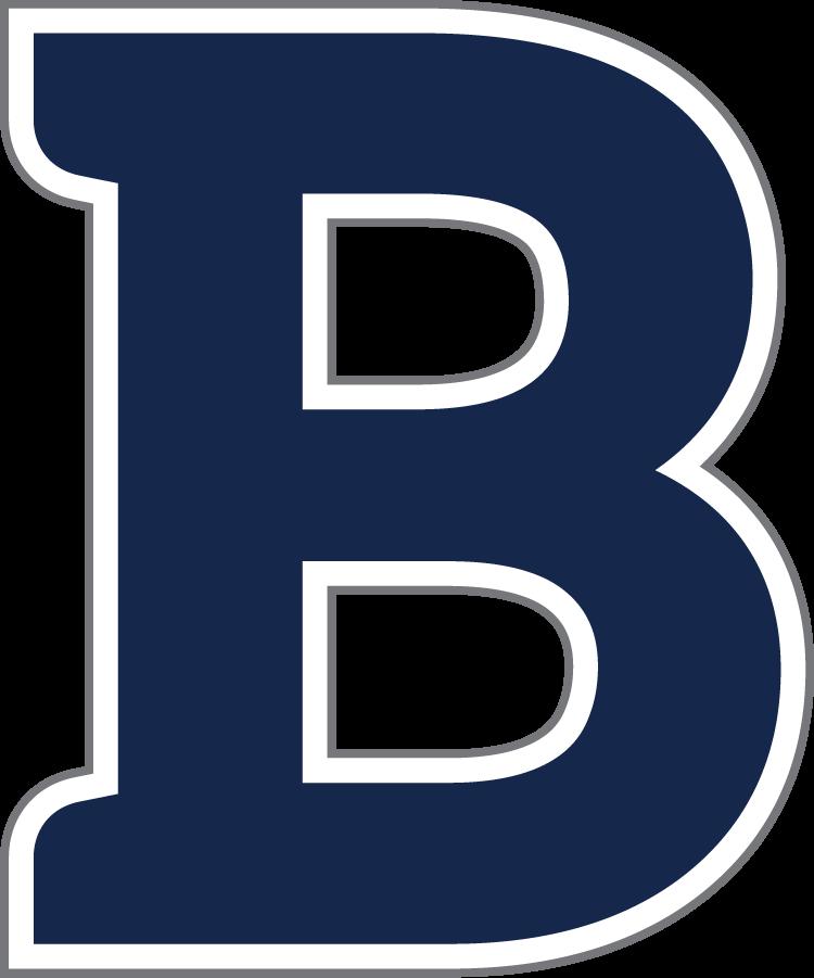 Butler Bulldogs Logo Secondary Logo (2016-Pres) - B logo in blue, white, and dark gray. SportsLogos.Net
