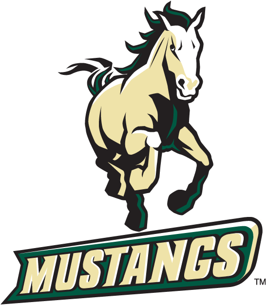 Cal Poly Mustangs Logo Alternate Logo (1999-Pres) - Mustang galloping above script. SportsLogos.Net