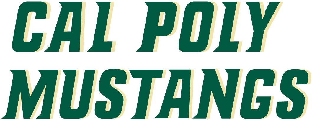 Cal Poly Mustangs Logo Wordmark Logo (1999-Pres) -  SportsLogos.Net