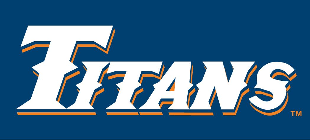 Cal State Fullerton Titans Logo Wordmark Logo (1992-2009) -  SportsLogos.Net