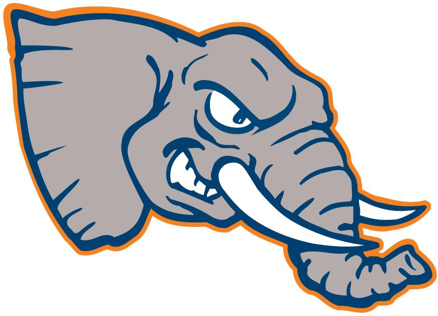 Cal State Fullerton Titans Logo Mascot Logo (1992-1999) - An Elephant's head SportsLogos.Net