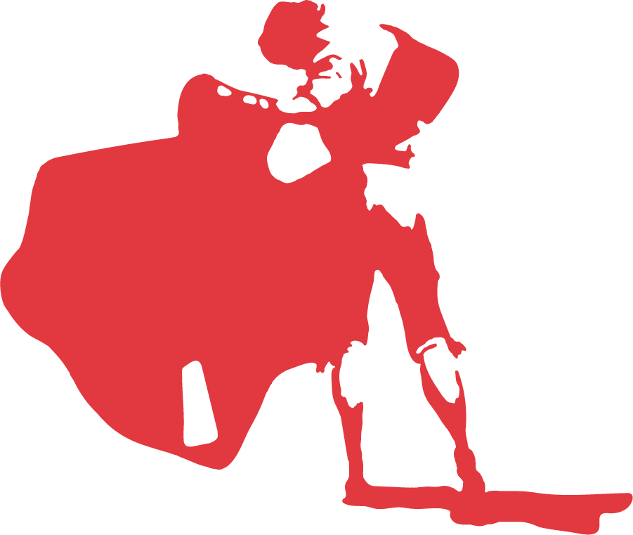 Cal State Northridge Matadors Logo Primary Logo (1967-1990) - Silhouette of a matador in red. Also appears with black, the cape still in red. Can be found as early as 1967, could be older. SportsLogos.Net