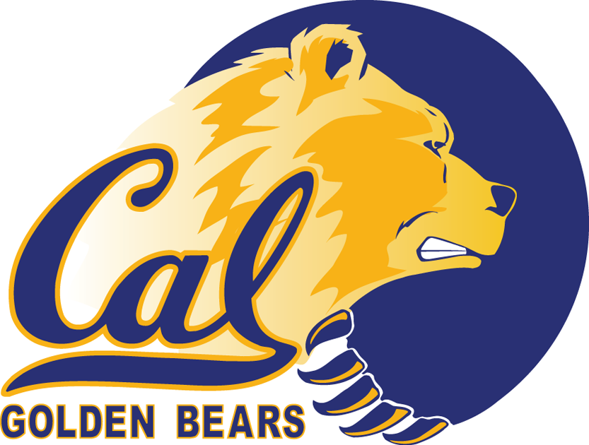 California Golden Bears Logo Primary Logo (1992-2003) - A bears head with paw in a cricle with script SportsLogos.Net