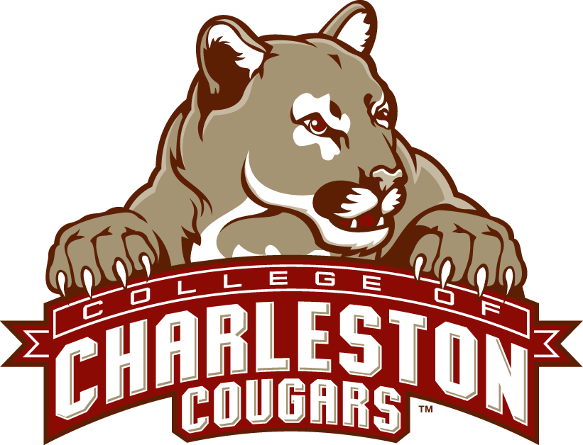 College of Charleston Cougars Logo Primary Logo (2003-2012) - Cougar resting on script SportsLogos.Net