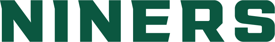 Charlotte 49ers Logo Wordmark Logo (2020-Pres) - The Charlotte 49ers introduced a new set of logos in the summer of 2020 including this new wordmark logo showing NINERS in green SportsLogos.Net