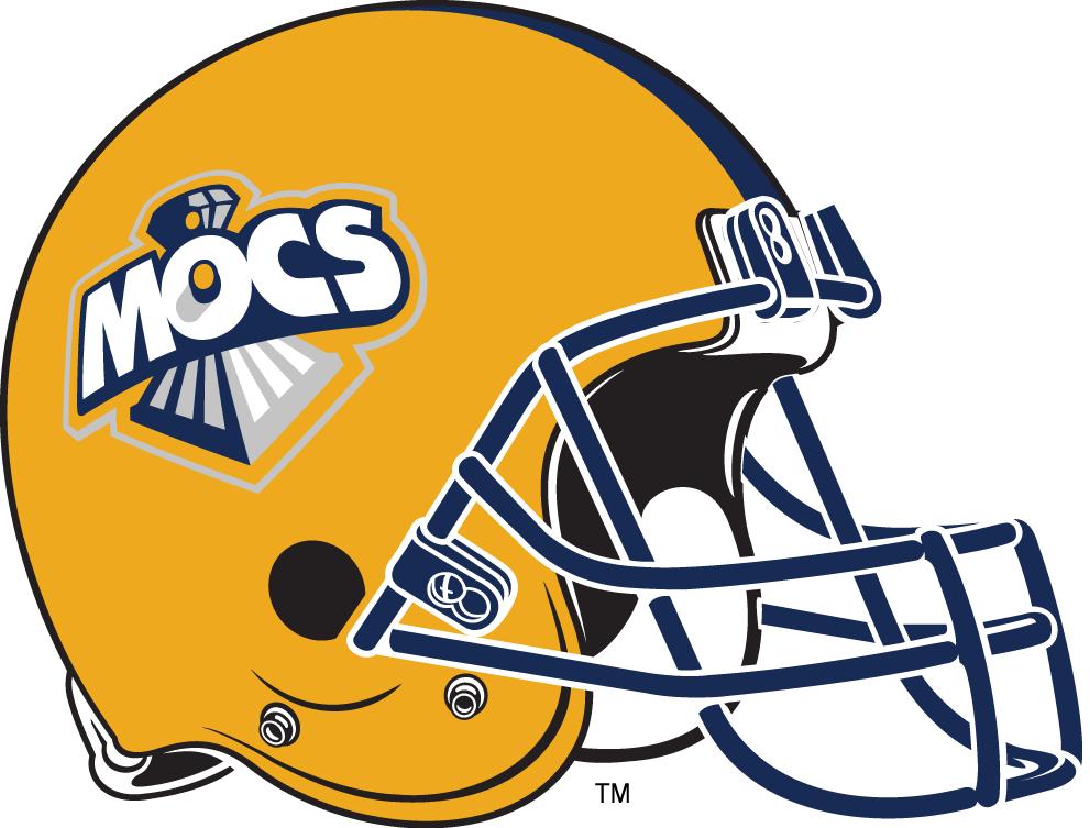 Chattanooga Mocs Helmet Helmet (1997-2007) -  SportsLogos.Net