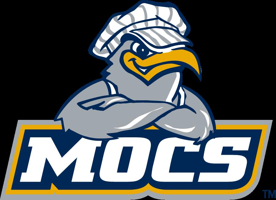 Chattanooga Mocs Logo Alternate Logo (1997-2008) - Mascot Scrappy over MOCS. SportsLogos.Net