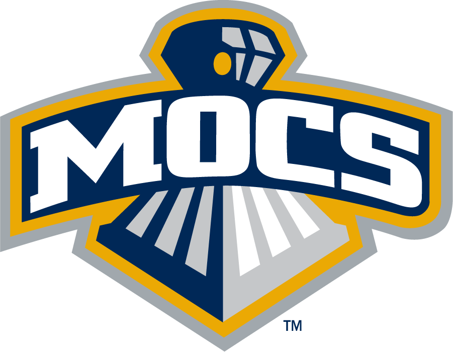 Chattanooga Mocs Logo Secondary Logo (2007-2014) - Arched Mocs over front of train. SportsLogos.Net