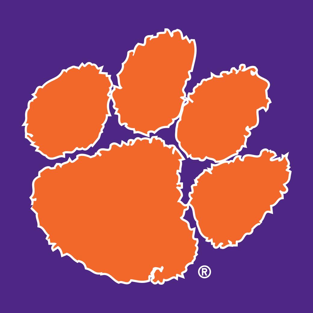 (a-c - Division I Logo NCAA Tigers Clemson  Secondary