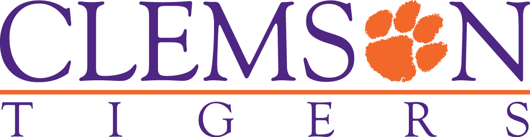 Clemson Tigers Logo Wordmark Logo (1995-2013) - Clemson script with paw forming inplace of O SportsLogos.Net
