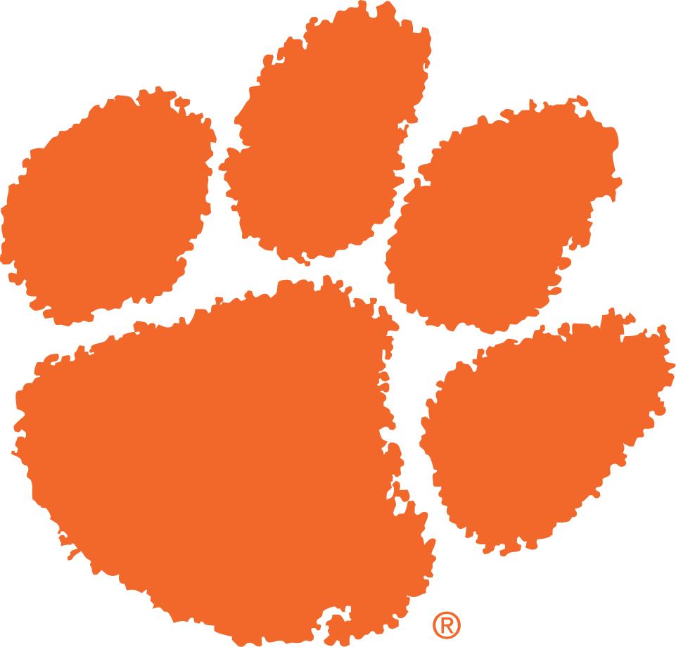 Clemson Tigers Logo Primary Logo (1977-Pres) - An orange paw SportsLogos.Net