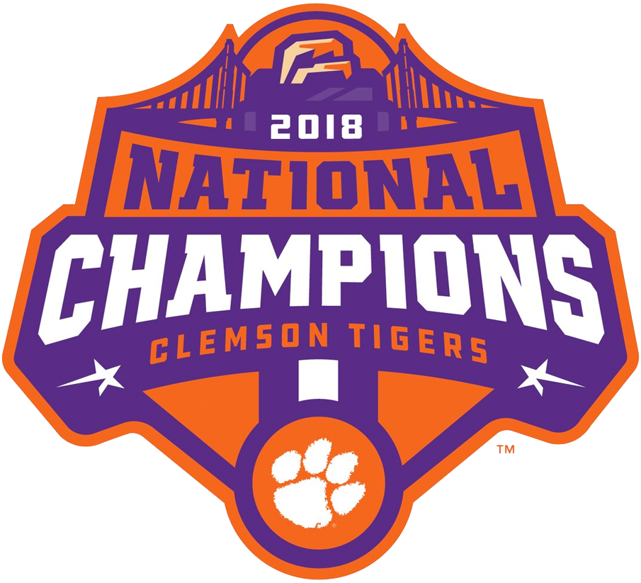 Clemson Tigers Logo Champion Logo (2018) - Clemson Tigers 2018 National Champions logo - football SportsLogos.Net