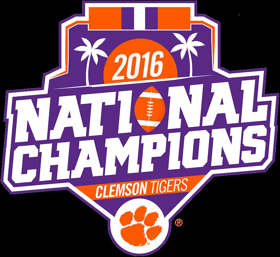 Clemson Tigers Logo Champion Logo (2016) - Clemson Tigers 2016 National Champions logo SportsLogos.Net