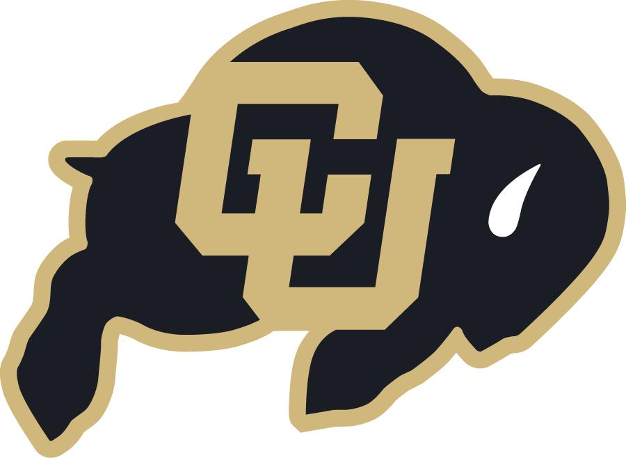 Colorado Buffaloes Logo Primary Logo (2006-Pres) - Interlocking gold CU on a charging black buffalo with gold outline SportsLogos.Net