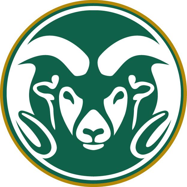 Colorado State Rams Logo Primary Logo (1993-2014) - A white ram's head on a green circle SportsLogos.Net
