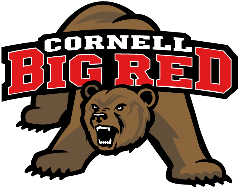 Cornell Big Red Logo Primary Logo (1998-2001) - A bear growling with banner with team name on his back SportsLogos.Net