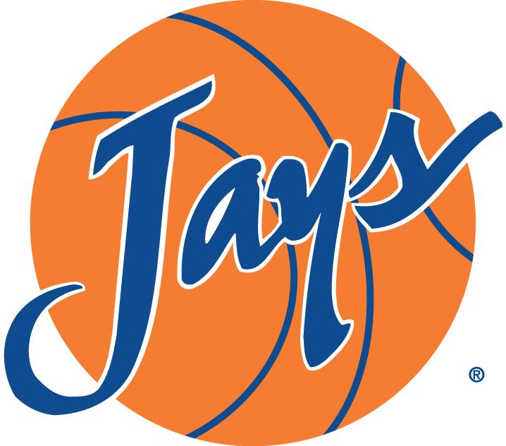 Creighton Bluejays Logo Misc Logo (1999-2012) - Jays blue script on a basketball SportsLogos.Net