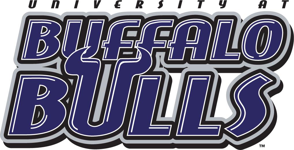Buffalo Bulls Logo Wordmark Logo (1997-2006) - Buffalo Bulls in purple with bull horn U SportsLogos.Net