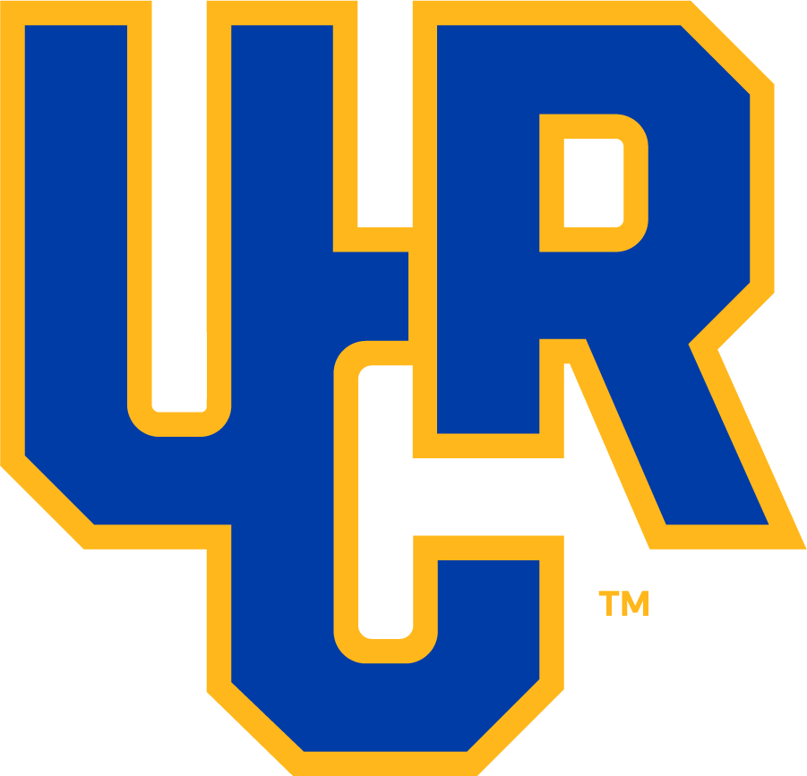 UC Riverside Highlanders Logo Primary Logo (2020-Pres) - The University of California, Riverside unveiled their new athletic logos in the summer of 2020, the primary mark featuring the monogram UCR conjoined in blue and gold.  SportsLogos.Net